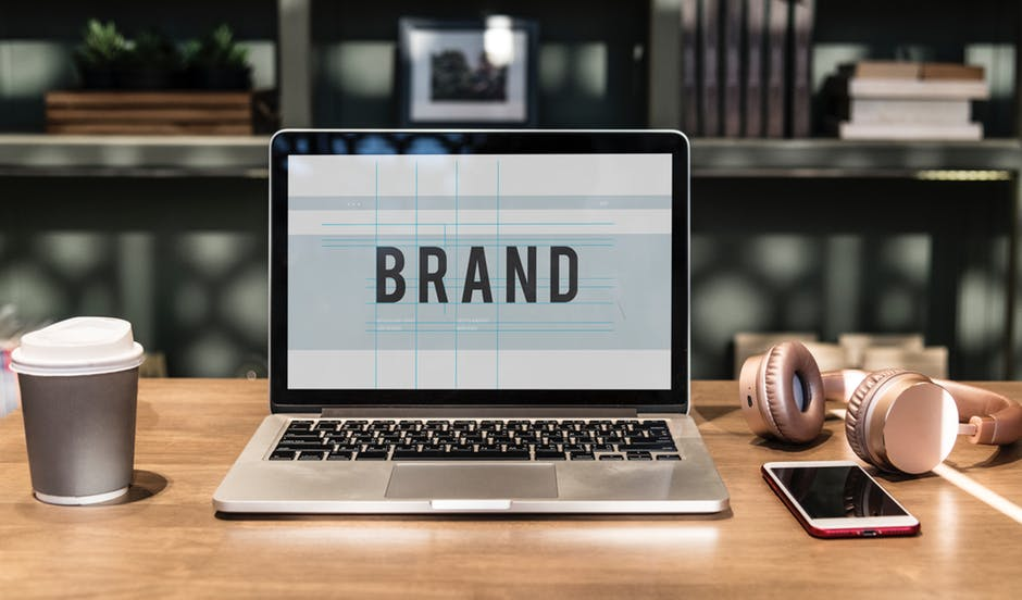 What is Brand Image on laptop office space